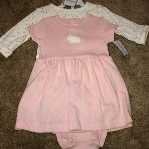 Infant pink Bunny Dress